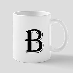 Fancy Letter B Mugs