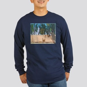 Adobe Wall #1 Long Sleeve Dark T-Shirt
