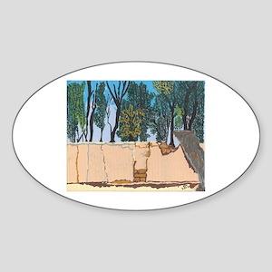 Adobe Wall #1 Oval Sticker