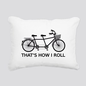 Thats how I roll, tandem bicycle Rectangular Canva