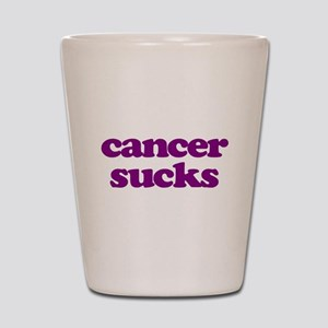 Cancer Sucks Purple Awareness Shot Glass