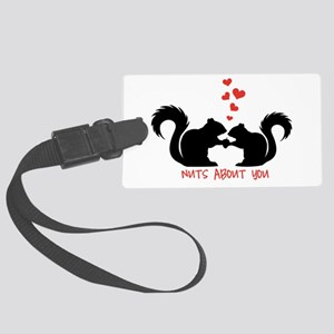 Nuts about you, squirrels in love Luggage Tag