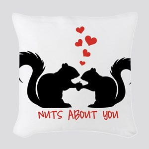 Nuts about you, squirrels in love Woven Throw Pill