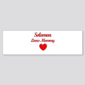 Solomon Loves Mommy Bumper Sticker