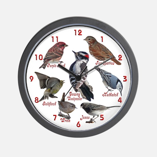 Backyard Birds Wall Clock