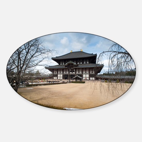 Todaiji temple Sticker (Oval)