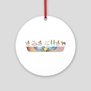 Presa Hieroglyphs Ornament (Round)