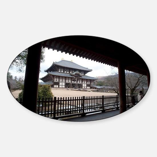 Todai-ji Main Hall Sticker (Oval)