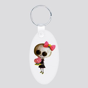 Skeleton Girl with Cupcake Keychains