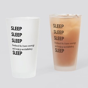 Sleep Sleep Sleep Drinking Glass