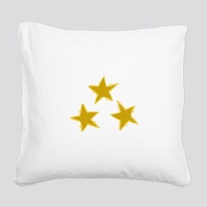 Holiday Stars Square Canvas Pillow