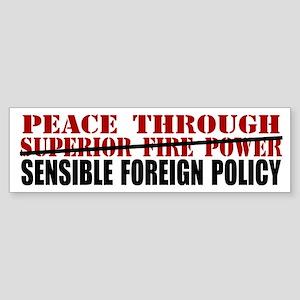Peace Thru SFP Bumper Sticker