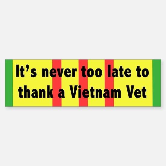 Thank a Vet Sticker (Bumper)
