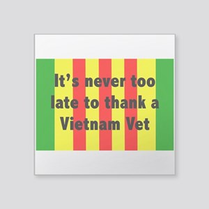 "Thank a Vet Square Sticker 3"" x 3"""