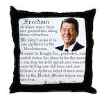 Ronald Reagan on Freedom Throw Pillow