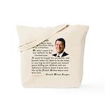 Ronald Reagan on Freedom Tote Bag