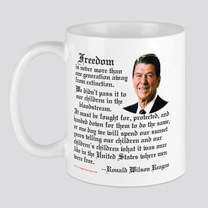 Ronald Reagan on Freedom Mug