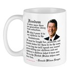 Ronald Reagan on Freedom Mug
