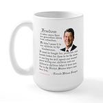 Ronald Reagan on Freedom Large Mug
