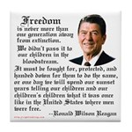 Ronald Reagan on Freedom Tile Coaster