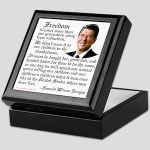 Ronald Reagan on Freedom Keepsake Box