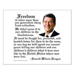 Ronald Reagan on Freedom Small Poster