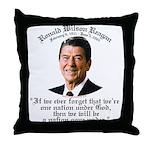 Ronald Reagan Nation under God Throw Pillow