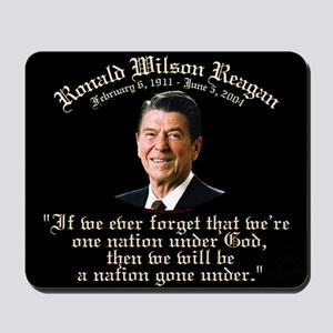 Ronald Reagan Nation under God Mousepad