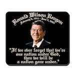 Ronald Reagan Nation under God Mousepad