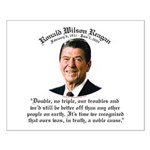 Ronald Reagan Noble Cause Small Poster