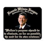 Ronald Reagan Welfare Quote Mousepad