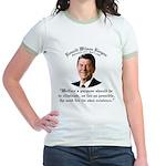 Ronald Reagan Welfare Quote Jr. Ringer T-Shirt