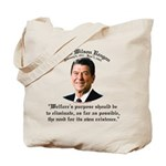Ronald Reagan Welfare Quote Tote Bag