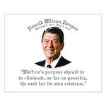 Ronald Reagan Welfare Quote Small Poster