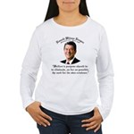 Ronald Reagan Welfare Quote Women's Lg Slv Tee