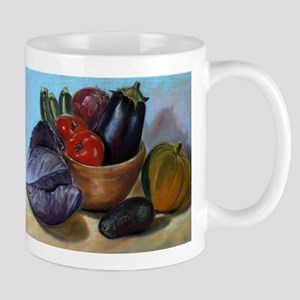 Still life painting with vegetables Mugs