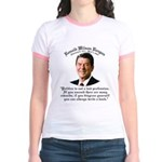 Ronald Reagan on Politics Jr. Ringer T-Shirt