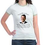 Ronald Reagan on Politics Jr. Ringer T-Shirt