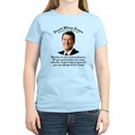 Ronald Reagan on Politics Women's Light T-Shirt