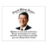 Ronald Reagan on Politics Small Poster