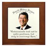 Ronald Reagan Govt. & Problems Framed Tile