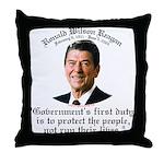 Ronald Reagan Govt's Duty Throw Pillow