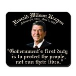 Ronald Reagan Govt's Duty Mousepad