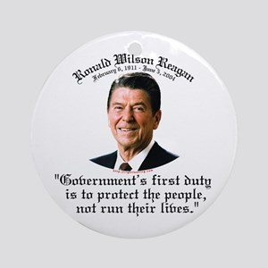 Ronald Reagan Govt's Duty Ornament (Round)