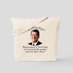 Ronald Reagan Govt's Duty Tote Bag