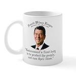 Ronald Reagan Govt's Duty Mug
