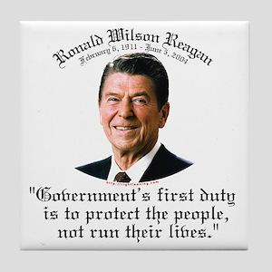 Ronald Reagan Govt's Duty Tile Coaster