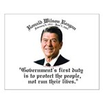 Ronald Reagan Govt's Duty Small Poster