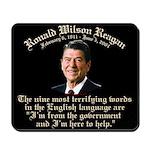 Reagan 9 Terrifying Words Mousepad