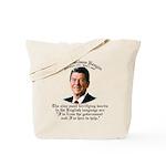 Reagan 9 Terrifying Words Tote Bag